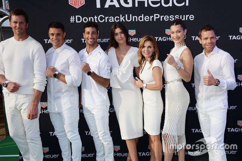 Tom Brady, Dan Carter, Daniel Ricciardo, Paulina Vega Dieppa, Geri Halliwell-Horner, Bella Hadid y Cadel Evans