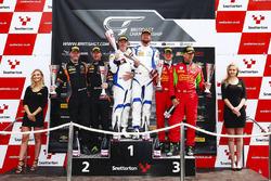 GT3 podium celebrations