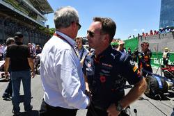 Jerome Stoll, Director de Renault Sport F1 y Christian Horner, director de Red Bull Racing