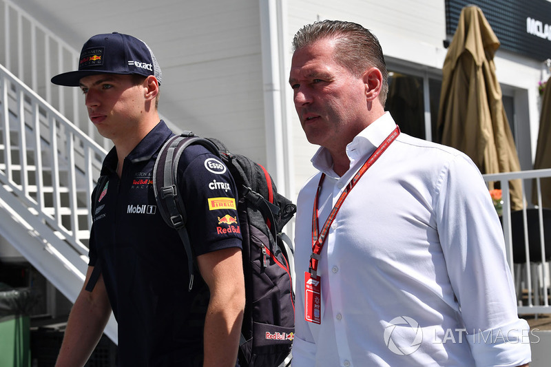 Max Verstappen, Red Bull Racing con il padre Jos Verstappen