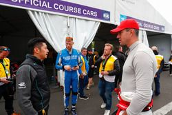 Ho-Pin Tung, Panasonic Jaguar Racing, meets Broadcaster, TV panelist, former England international cricketer Andrew Freddie Flintoff, Kevin Pietersen, former English cricketer