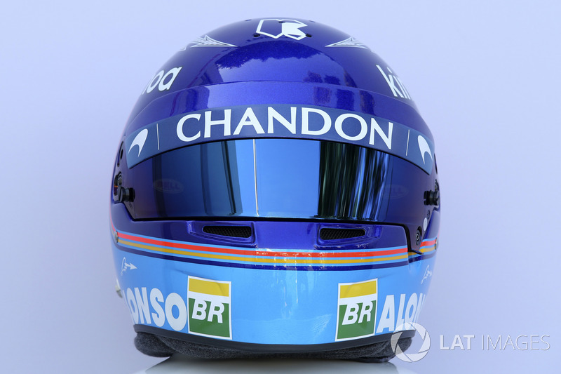 Casco de Fernando Alonso en 2018