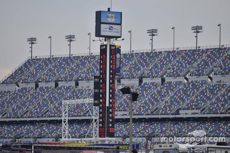 Torre de puntuación en Daytona.