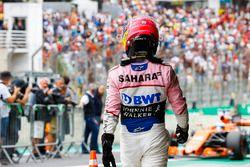 Sergio Pérez, Force India, en Parc Ferme