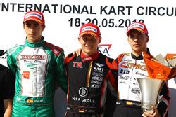 Podio: David Vidales, Hannes Janker y Pedro Hiltbrand