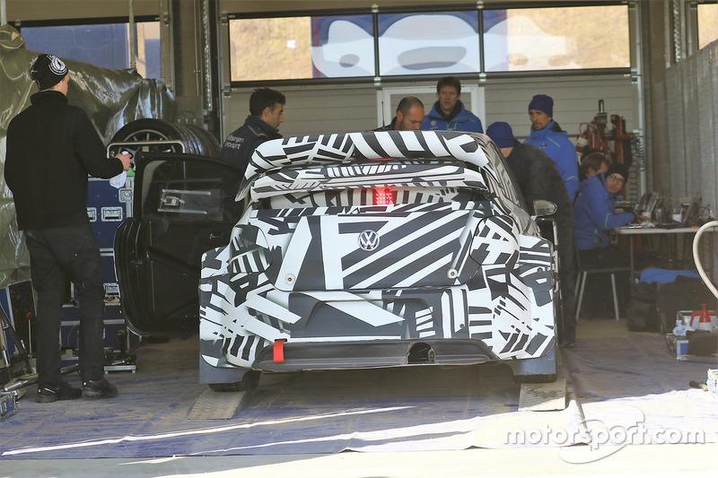Volkswagen Polo GTi World Rallycross Supercar testing