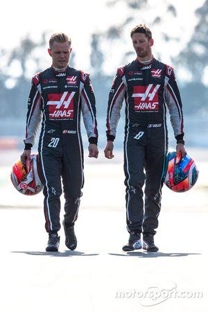 Kevin Magnussen, Haas F1 Team, Romain Grosjean, Haas F1 Team