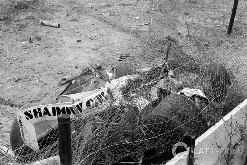 Закривавлена Shadow DN8 Тома Прайса після фатального інциденту