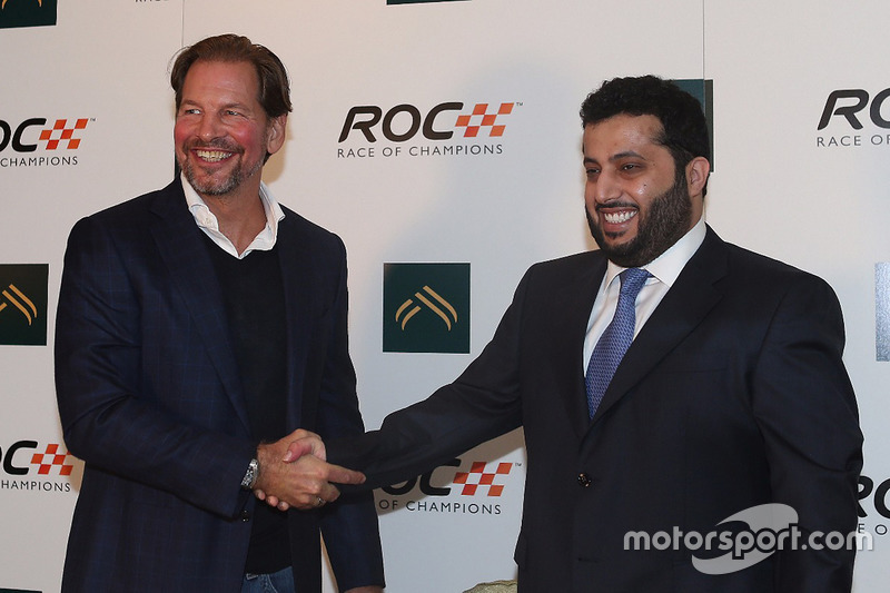 ROC President Fredrik Johnsson and his Excellence Turki Al-Sheikh, President of the General Sport Au