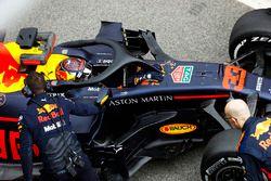 Max Verstappen, Red Bull Racing, in de pitstraat