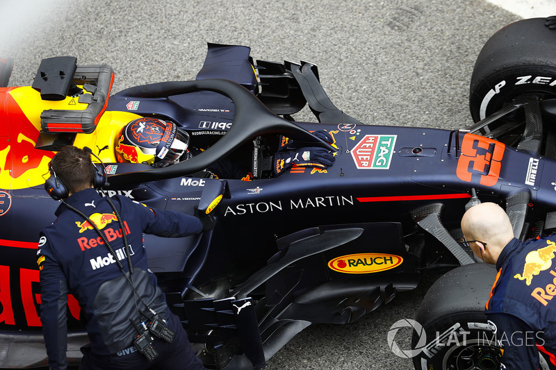 Max Verstappen, Red Bull Racing, in the pit lane