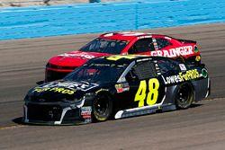 Jimmie Johnson, Hendrick Motorsports, Chevrolet Camaro Lowe's for Pros and Ryan Newman, Richard Chil