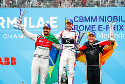 Sam Bird, DS Virgin Racing, ,wins the Rome ePrix, with Lucas di Grassi, Audi Sport ABT Schaeffler, i