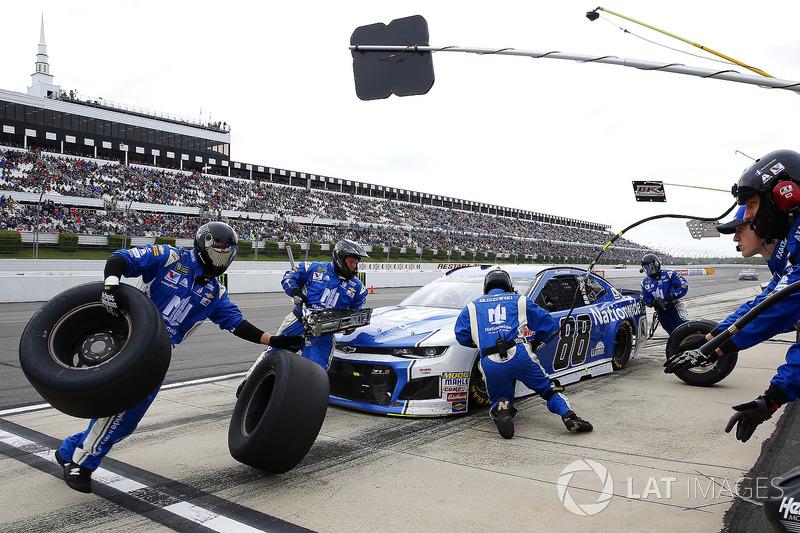 Pit stop Alex Bowman, Hendrick Motorsports, Chevrolet Camaro Nationwide