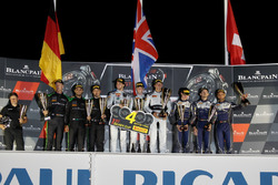 Podium Silver Cup: Winner #78 Barwell Motorsport Lamborghini Huracan GT3: Michele Beretta, Martin Ko