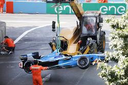 La monoposto incidentata di Nicolas Prost, Renault e.Dams