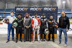 Karl Massad, Ahmed Bin Khanen, el Príncipe Khaled Al Faisal, el Presidente de la Federación de Motor