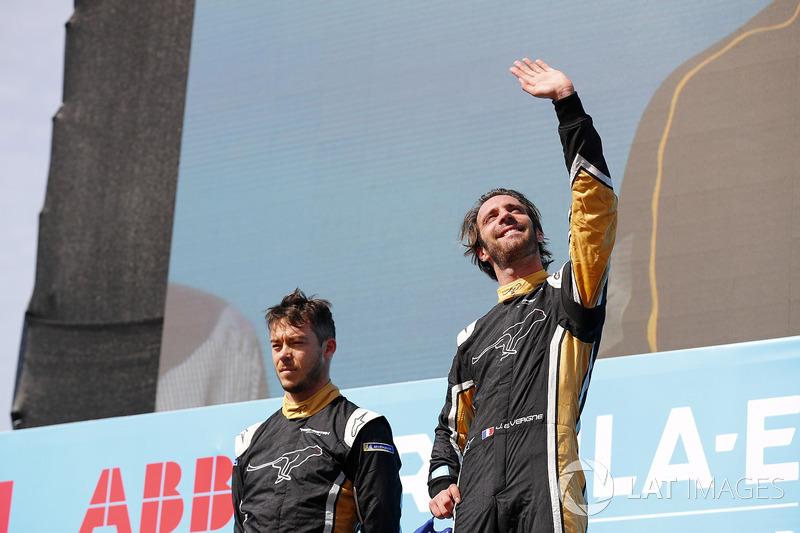 Jean-Eric Vergne, Techeetah, Andre Lotterer y Techeetah conforman el primer 1º 2º puesto en la historia de la Fórmula E