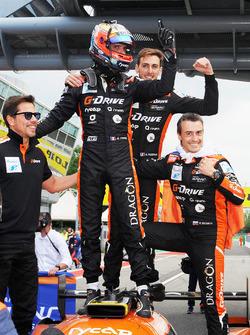 Race winners #26 G-Drive Racing Oreca 07 - Gibson: Roman Rusinov, Andrea Pizzitola, Jean Eric Vergne