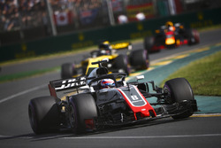 Romain Grosjean, Haas F1 Team VF-18 Ferrari, Nico Hulkenberg, Renault Sport F1 Team R.S. 18, et Daniel Ricciardo, Red Bull Racing RB14 Tag Heuer