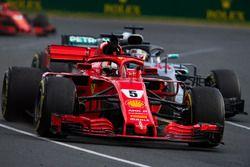 Sebastian Vettel, Ferrari SF71H festeggia