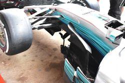 Mercedes AMG F1 W08 side detail