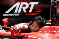Nobuharu Matsushita, ART Grand Prix tijdens het oefenen van de pitstop