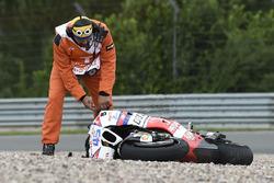 Scott Redding, Pramac Racing crash