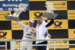 Podium: Race winner Maxime Martin, BMW Team RBM, BMW M4 DTM with Bart Mampaey, Team principal BMW Team RBM