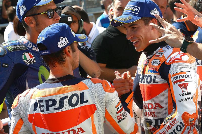 Третє місце Дані Педроса, Repsol Honda Team, володар поулу Марк Маркес, Repsol Honda Team