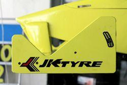 JK tyre front wing logo