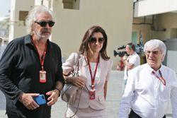 Flavio Briatore, con Fabiana Flosi y su marido Bernie Ecclestone