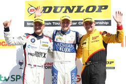 Podium: 1. Ashley Sutton, 2. Colin Turkington, 3. Mat Jackson