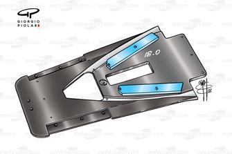 Splitter et T-tray de l'Arrows A22