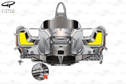 McLaren MP4/26 chassis, front view