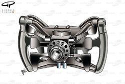 Red Bull RB7 Webber's steering wheel, back view