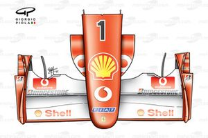 Ferrari F2002 (653) 2002 Canada front wing and nose