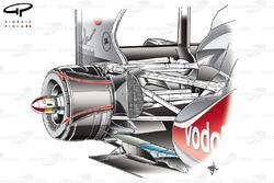 Conduit de freins arrière de la McLaren MP4-26, en Hongrie