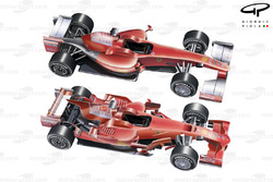 Ferrari F60 (660) 2009 comparison with F2008 overview