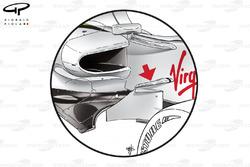 Ailette de châssis de la Brawn BGP001, à Monaco