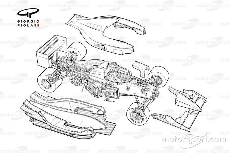 Detalle del Ferrari F92A (644) 1992