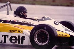Giorgio Piola testing the Renault RE30B at Paul Ricard in 1982