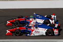 Conor Daly, A.J. Foyt Enterprises Chevrolet, Carlos Munoz, A.J. Foyt Enterprises Chevrolet