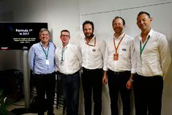 Ian Burrows, Nigel Geach, Charles Bradley, Motorsport.com Editor in Chief and Peter Bayer, FIA Secre