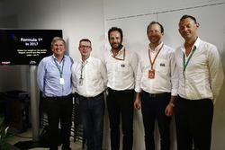 Nigel Geach; Ian Burrows; Matteo Bonciani, FIA-Pressesprecher; Peter Bayer, FIA; Charles Bradley, Ch