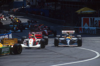 Ayrton Senna, McLaren MP4/8; Damon Hill, Williams FW15C Renault