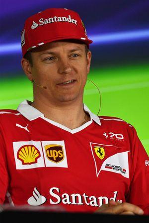 Kimi Raikkonen, Ferrari en conférence de presse
