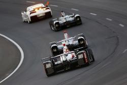 Tristan Vautier, Dale Coyne Racing Honda behind the pace car