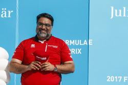 Dilbagh Gill on the podium