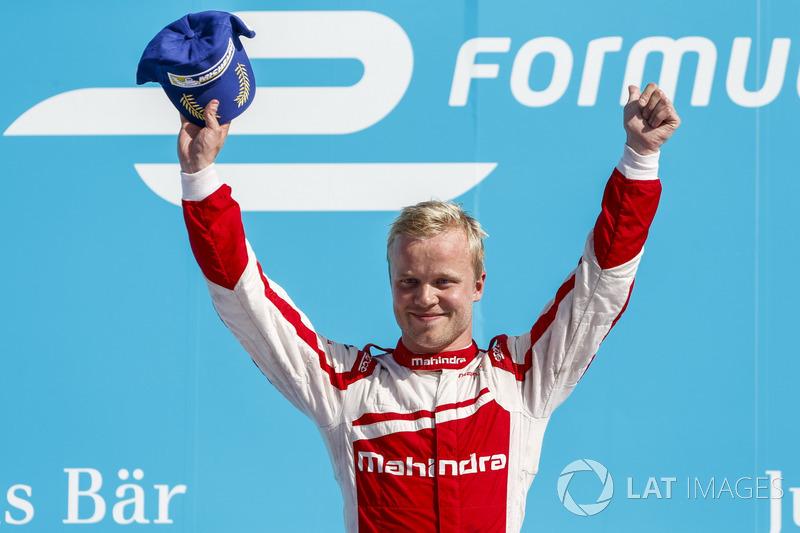 Ganador de la carrera Felix Rosenqvist, Mahindra Racing